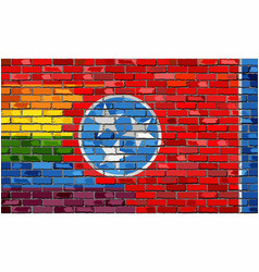 Brick wall tennessee and gay flags vector