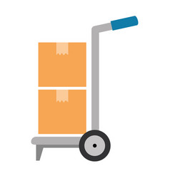 cart with boxes delivery service vector image