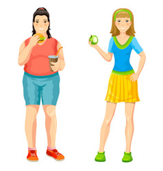 cartoon proper nutrition concept vector image