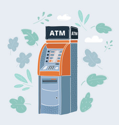 Cash machine atm on white vector