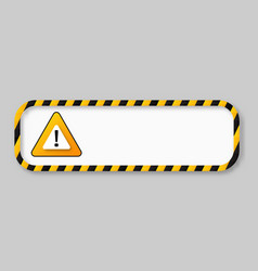 Caution tape warning banner frame vector