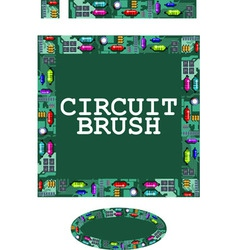 Circuit brush vector
