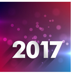 Clean 2017 background for new year holidays vector