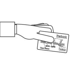 Credit or debit card icon line design vector