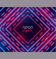 dazzling neon lights abstract background in blue vector image