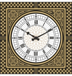 Dial Victorian clock in the style of Big Ben vector image