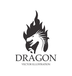 Dragon animal cartoon design vector