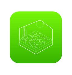 Drought icon green vector
