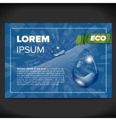 Eco flayer design vector image