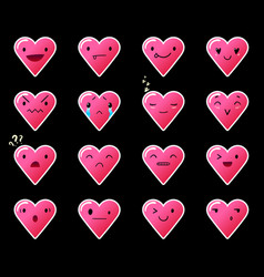 Emoticons heart gradient 11 vector
