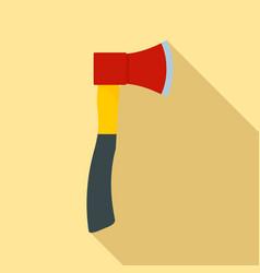 farm axe icon flat style vector image