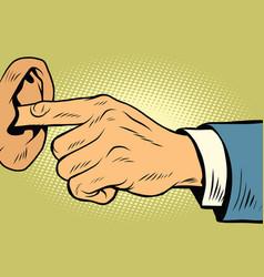 Finger in ear not hear vector