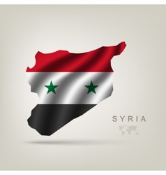 Flag of Syria as a country vector image vector image