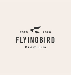 flying bird hipster vintage logo icon vector image
