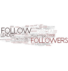 Followers word cloud concept vector