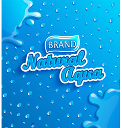 fresh natural water banner with drops and splash vector image