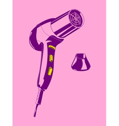 hair drier vector image