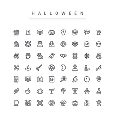 Halloween Line Icons Set vector