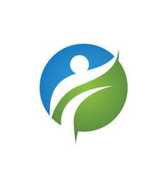 Healthy life logo icon vector