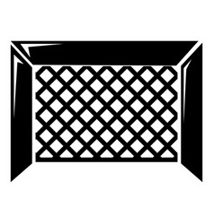 Hockey gate icon simple style vector