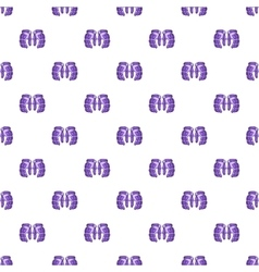 Hockey gloves pattern cartoon style vector image