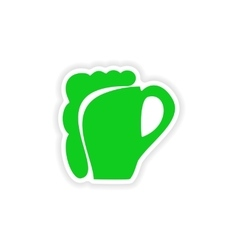 Icon sticker realistic design on paper glass of vector
