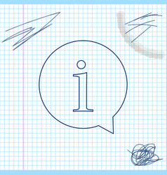 information line sketch icon isolated on white vector image