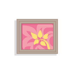 Interior decor picture framed vector