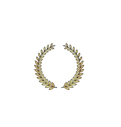 Laurel wreath computer symbol vector