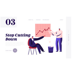 less paper using and stop trees cutting website vector image