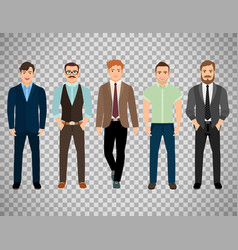 Men dressed in business formal style vector