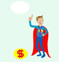 Mr dolar mascot vector