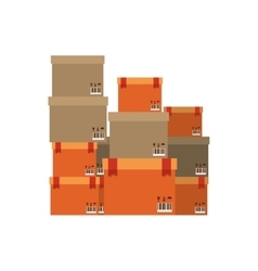 Multiple boxes stacked and sealed vector