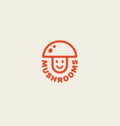 Mushrooms logo vector