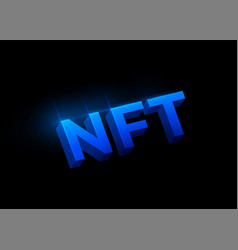 nft non fungible tokens concept background vector image