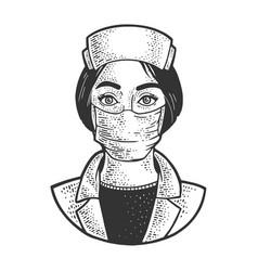nurse sketch vector image
