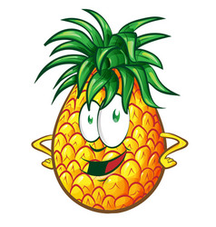 Pineapple character cartoon vector