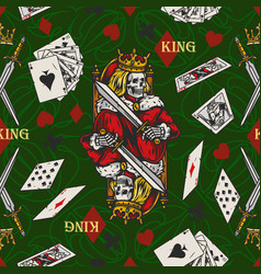 Playing cards colorful seamless pattern vector