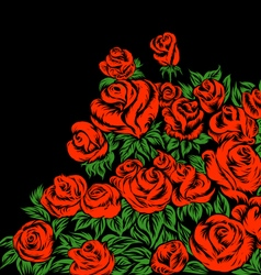 Rose flowers Drawing vector image
