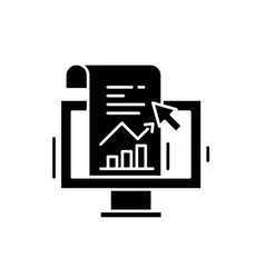 sales statistics black icon sign on vector image