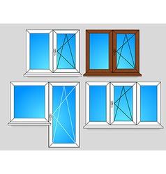 Set of window templates vector image vector image
