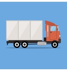 small modern cargo truck for transportation vector image vector image