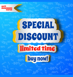 Special discount advertising background vector