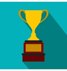Sports cup flat icon vector