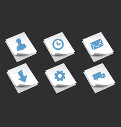 stack of paper with icons vector image