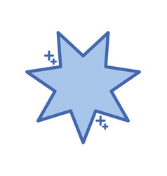 Star seven pointed fill style icon vector