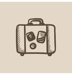 Suitcase sketch icon vector image