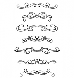 swirl elements vector image