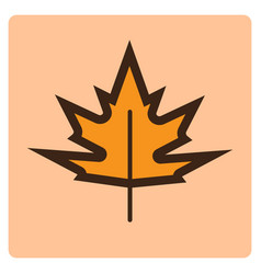 Thin line maple leaf icon vector