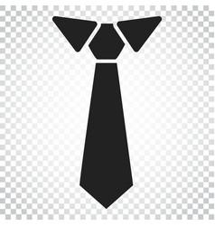 Tie flat icon necktie simple business concept vector